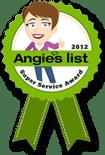 Angie's List Super Service Award 2012