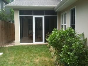 Patio doors installed by Dan Whites Screens & Things in Austin, Texas.