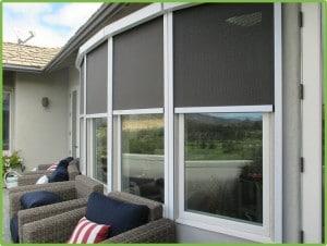 Half open retractable solar window screens